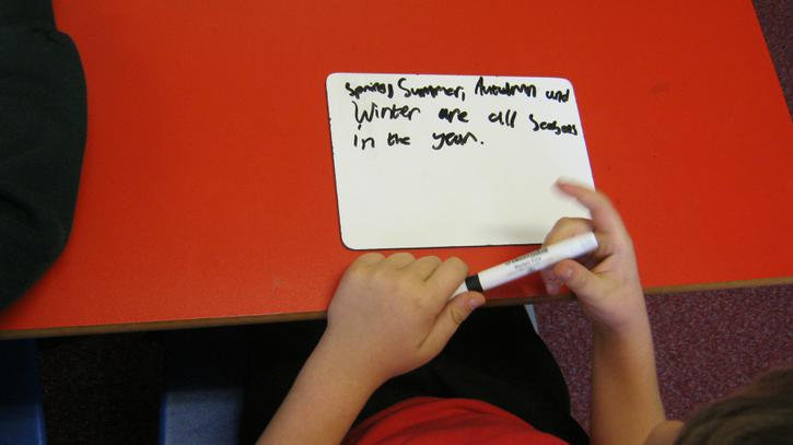 Using commas for lists.