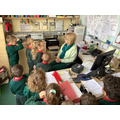 Mrs Martin helps us in the school office.