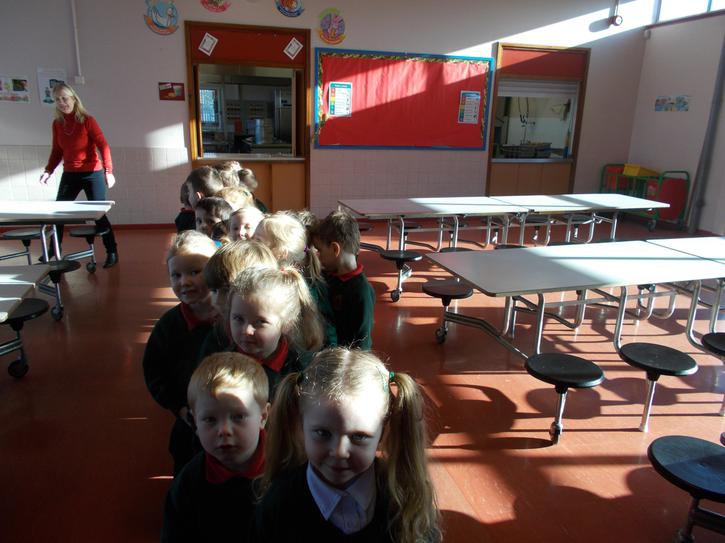 This is the school dinner hall