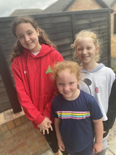 3 happy girls.