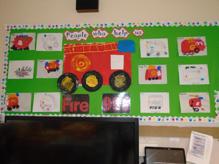 Our beautiful fire engine paintings and drawings.