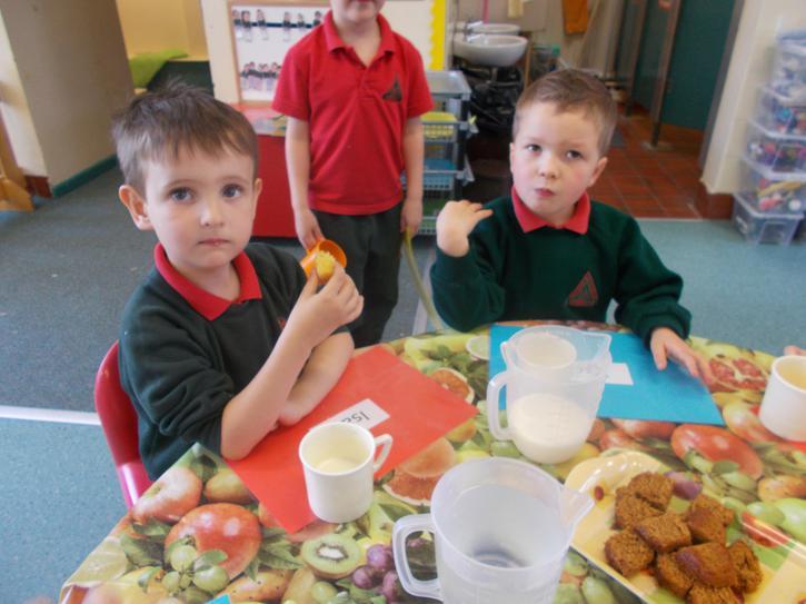 Tasting lemon and ginger cakes