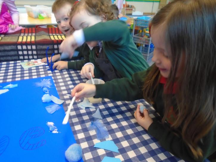 making a 'blue' collage