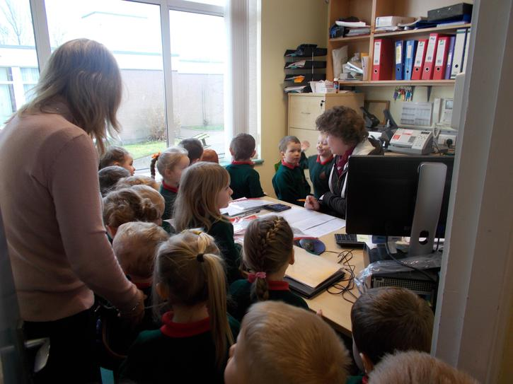 We also visited Mrs Ruddell in the office