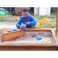 Sand pit fun