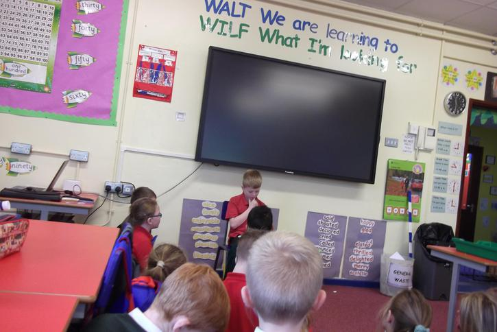 Acting out the stories of Martin Waddell.