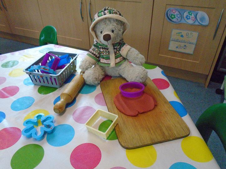 When you arrive in Nursery we play inside.
