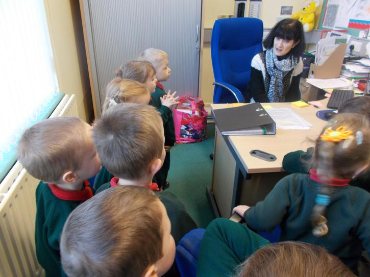 We visited Miss Gates in the Principal's office