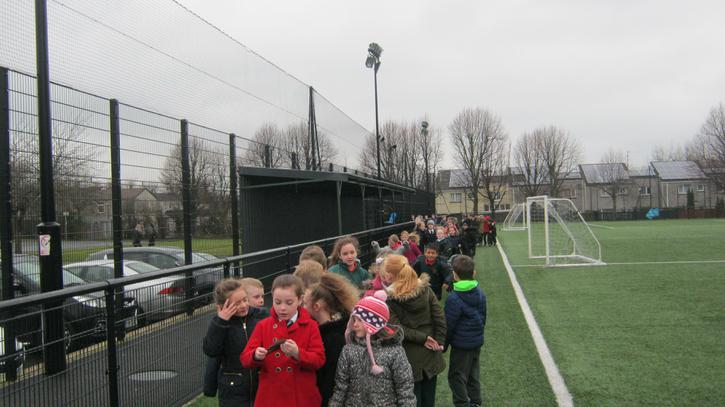 Taking a stroll with P4/5 for the 'Golden Mile'
