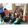 The nurse told us all about her job and how she helps sick people.