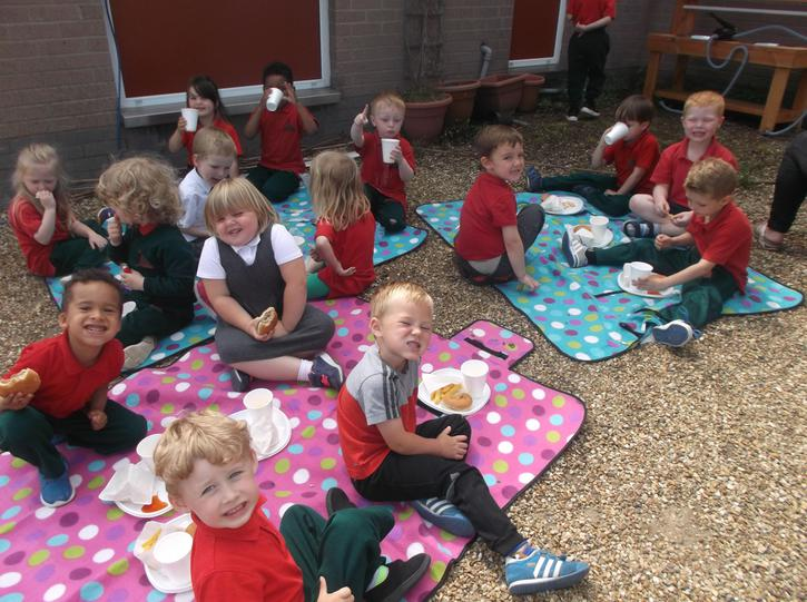 we had a picnic lunch outside