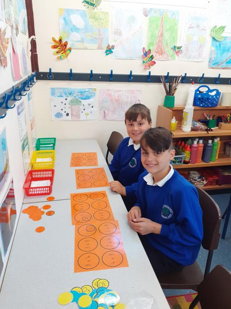 Maths games help us learn our times tables.