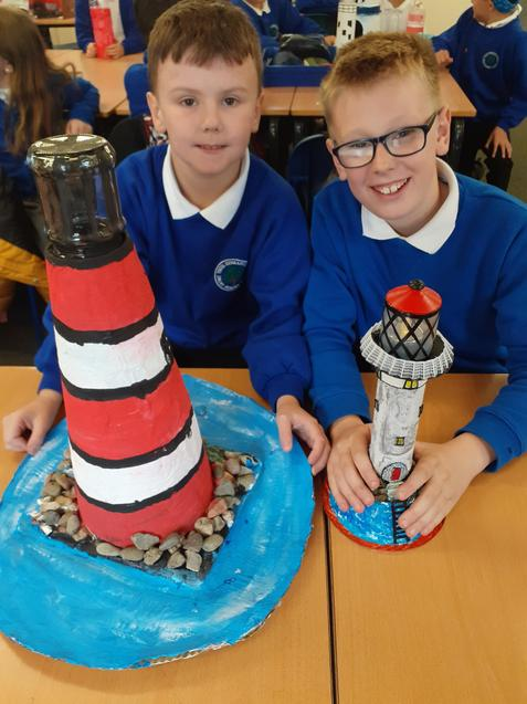 We made lighthouses.
