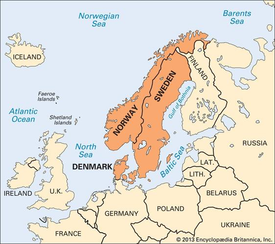 Political and physical geography of Scandinavia