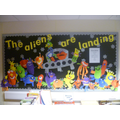 We loved our alien fun during our topic on space.