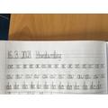 Year 3/4 handwriting practice