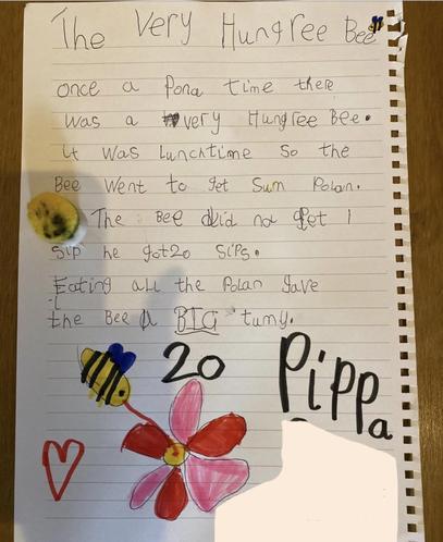Pippa's 'Very Hungry Bee'