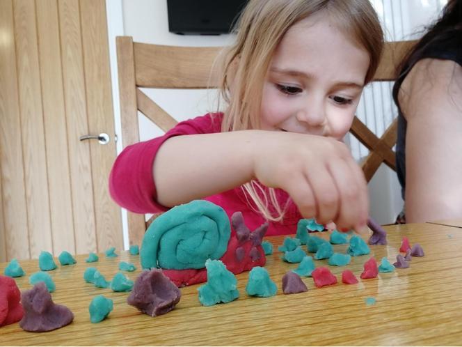 Emi's playdough creations