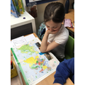 Using an atlas to locate Europe in LKS2