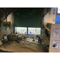 Dinosaur den role-play area.