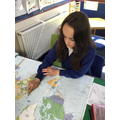 Using the atlas to locate the U.K. in LKS2