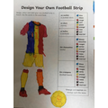 Using our new knowledge of french colours ,to design our own football kits