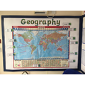 Learning the continents and seas of our world in KS1