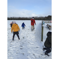 Snow ball fight (at a safe distance of course!)