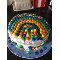 Busy making rainbow cakes! Yummy