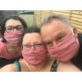 Creativity at its best - homemade face masks!