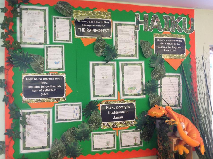 Rainforest Haikus (Y3 & 4)