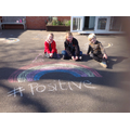 Children of key workers join the 'Rainbow Trail'