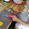 Making finger puppets!