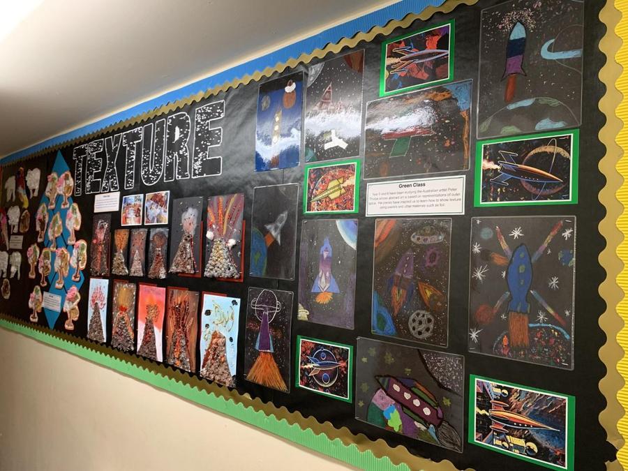 The Main Corridor (Whole School Art)