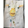 Fantastic giraffe painting