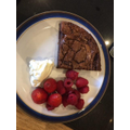 VE Day flourless chocolate cake baked by a Yr5