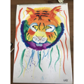 Terrific tiger art by Lottie