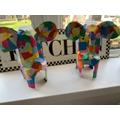 Cheerful Rainbow Elephants