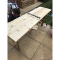 A Yr6 pupil learning carpentry skills at home