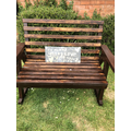 Wilfy's bench-well done Wilfy!