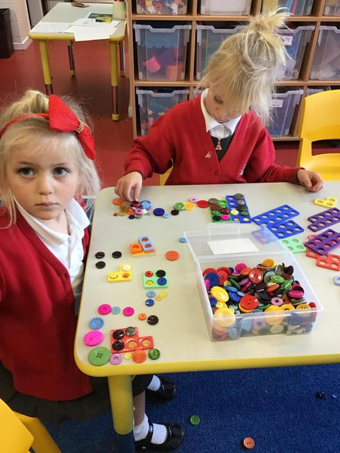 Filling Numicon with buttons... copying shapes