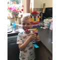 Check out this awesome Lego master builder!