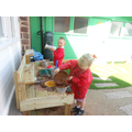 Our new mud kitchen!