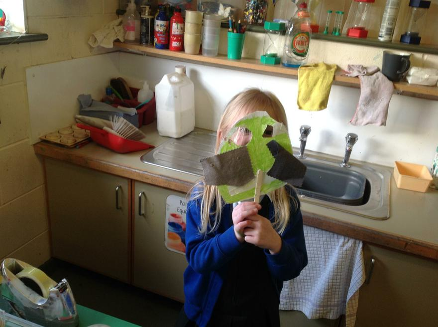 Making troll masks.