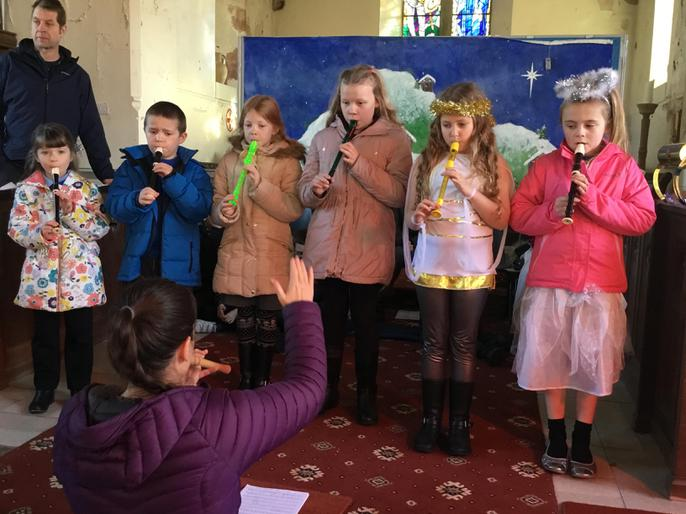 The recorder group in rehearsal