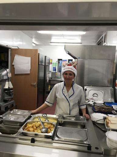 Our brilliant cook, Janie.