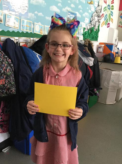 Tayla was our first Merit winner! 8.9.17