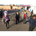 In maths,we practiced our compass directions