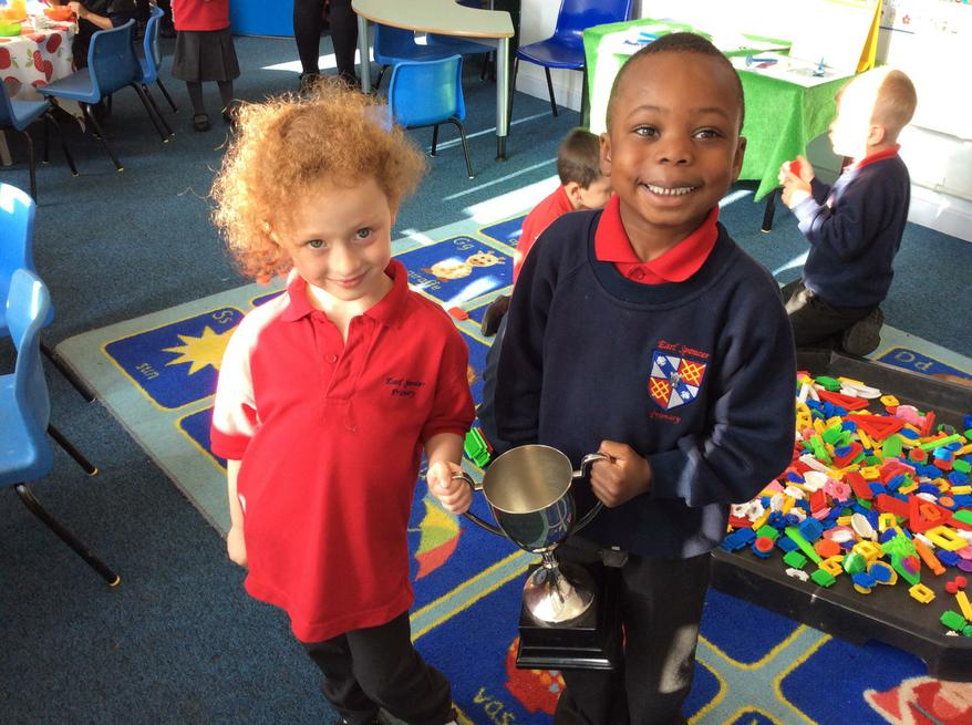 Lily and Abimbola collected the cup!