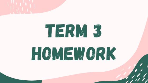 Term 3 Homework